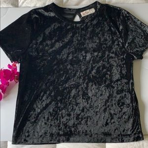 Hollister velvet top